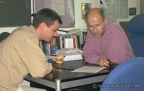 Professor Lesch und Manuel Uhl
